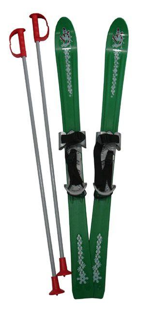 Plastkon Lyže dětské 90cm - zelené