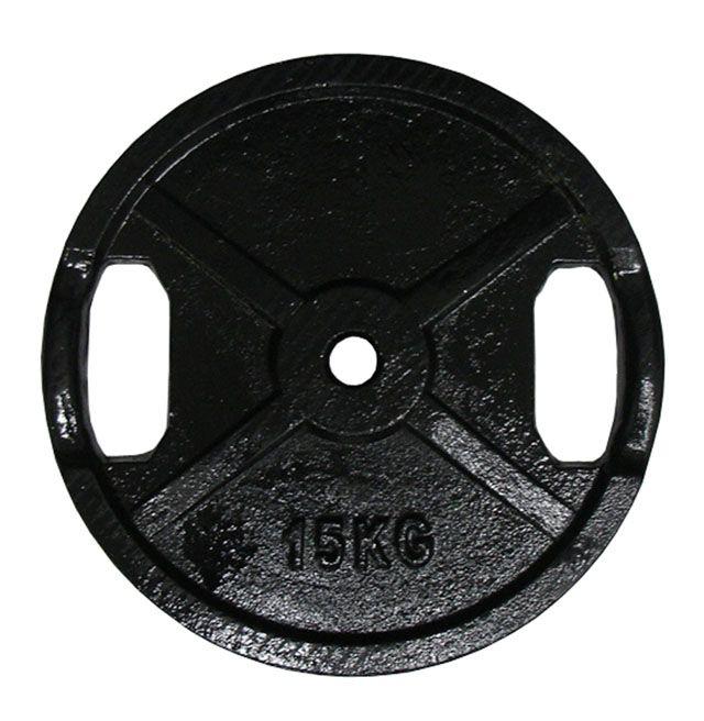 Litinový kotouč s úchopy 15kg - 25 mm