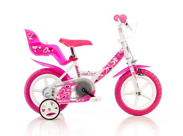 """Dětské kolo Dino Bikes bílo-růžové 12"""""""