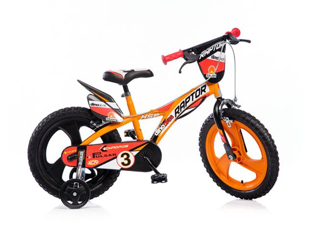"""Kolo dětské Dino 16"""" oranžové"""