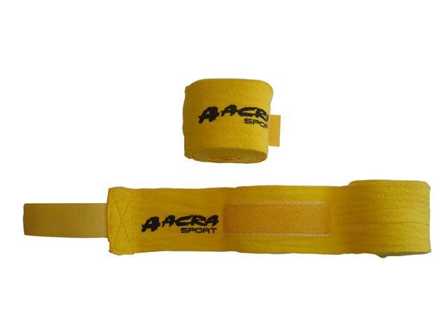 CorbySport 43355 Bandáž na ruce pro bojové sporty - žlutá
