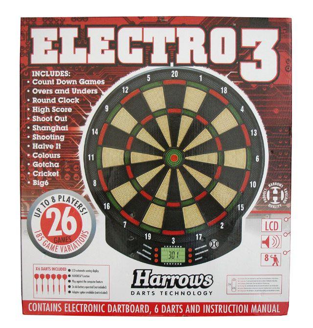 Elektronický terč na šipky HARROWS ELEKTRO 3 pro 8 hráčů