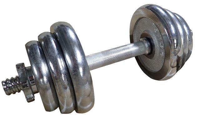 CorbySport 4558 Činka nakládací, jednoruční, chromová - 12 kg