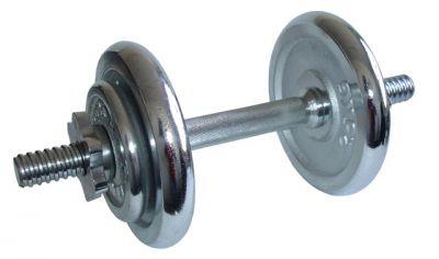 Činka nakládací, jednoruční - 8,5 kg - chromované kotouče