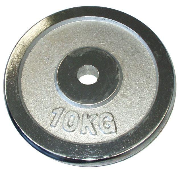 CorbySport 4758 Kotouč chrom 10 kg - 30 mm