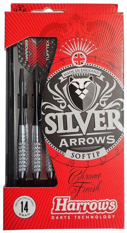 Harrows SOFT SILVER ARROW Šipky s plastovým hrotem 18g