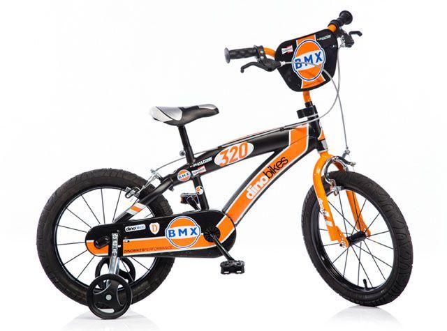 """Dino BMX 165XC černo - oranžové 16"""" 2017 dětské kolo"""