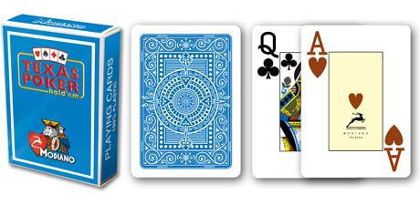 Modiano 2 rohy 100% plastové karty - Světle modré
