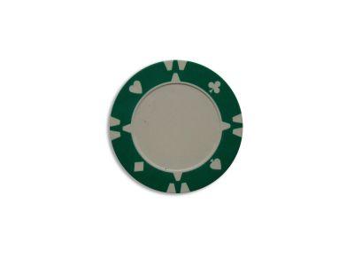 Kusový žeton design Flop zelený - 1 ks