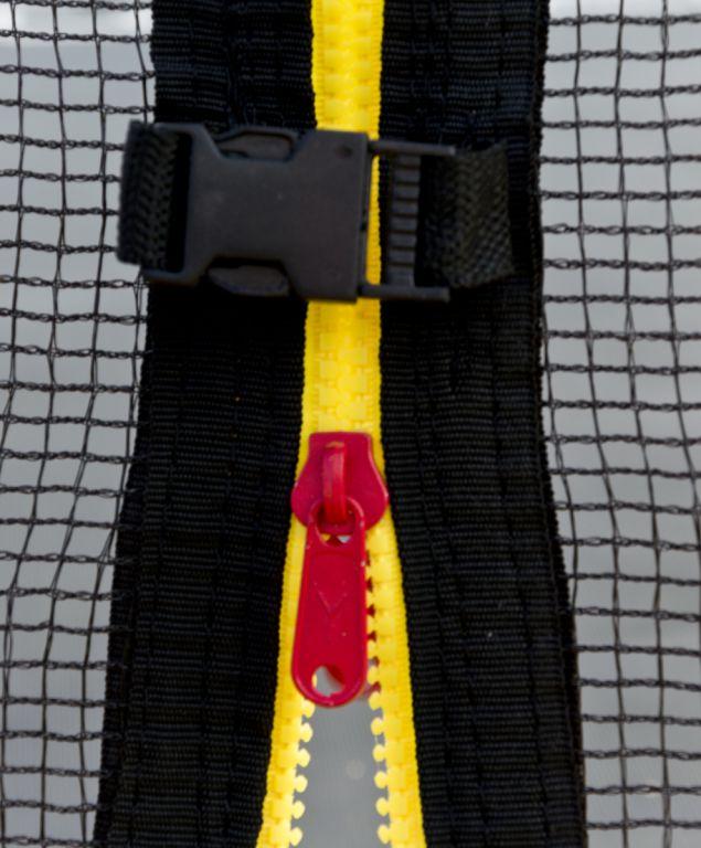 Trampolína G21 s ochrannou sítí 250cm, červená
