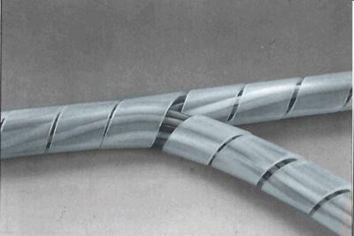 Páska spirálová k organizaci kabeláže 15-100mm 10m ČIRÁ