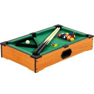 Mini kulečník pool s příslušenstvím 51 x 31 x 10 cm - světlý