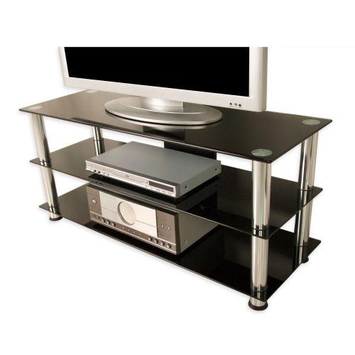 Tuin NOBLE 1281 Televizní skleněný stolek černý