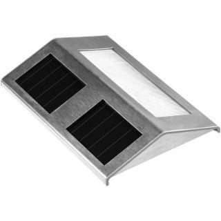 Solární LED zahradní svítidlo Garth z nerezové oceli