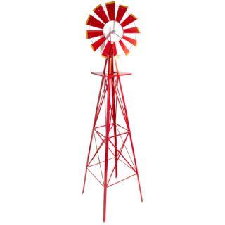 Větrný mlýn červený, 245 cm
