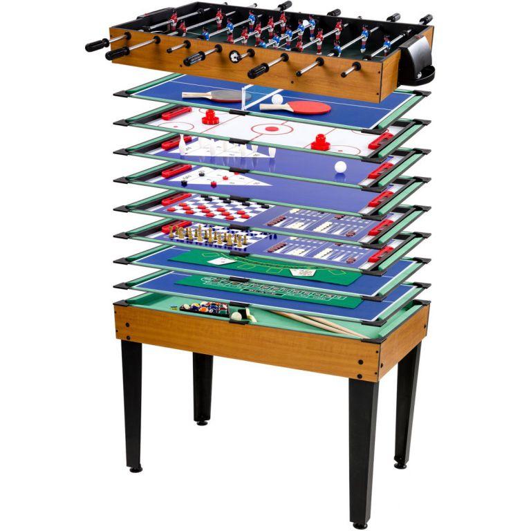 Tuin Multifunkční herní stůl 15 v 1 - hnědý