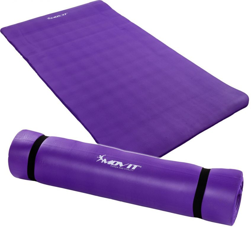 MOVIT 30635 Podložka na jógu 190 x 100 x 1,5 cm fialová