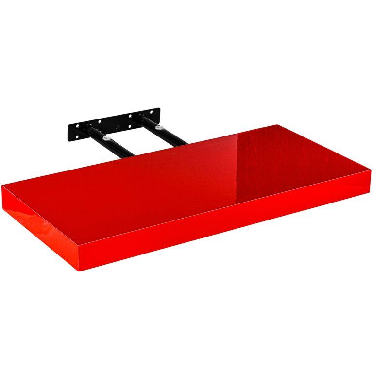 STILISTA VOLATO 31047 Nástěnná police - lesklá červená 50 cm