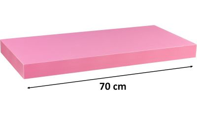 Nástěnná police STILISTA VOLATO - růžová 70 cm