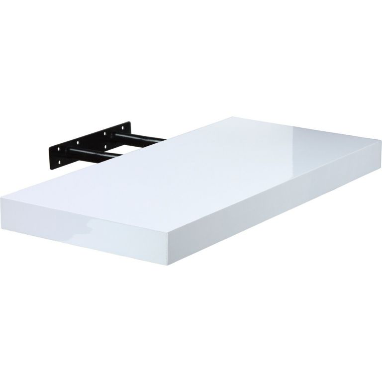 STILISTA VOLATO 31057 Nástěnná police - lesklá bílá 70 cm