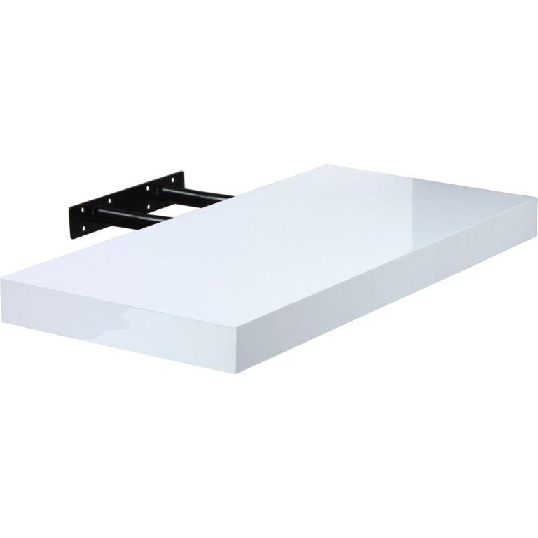 STILISTA VOLATO 31079 Nástěnná police - lesklá bílá 110 cm