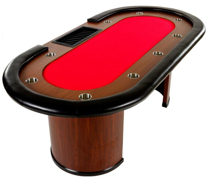 Tuin Royal Flush 32444 XXL pokerový stůl, 213 x 106 x 75cm, červená