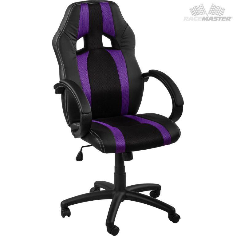 Kancelářská židle GS Tripes Seriesčerná/fialový