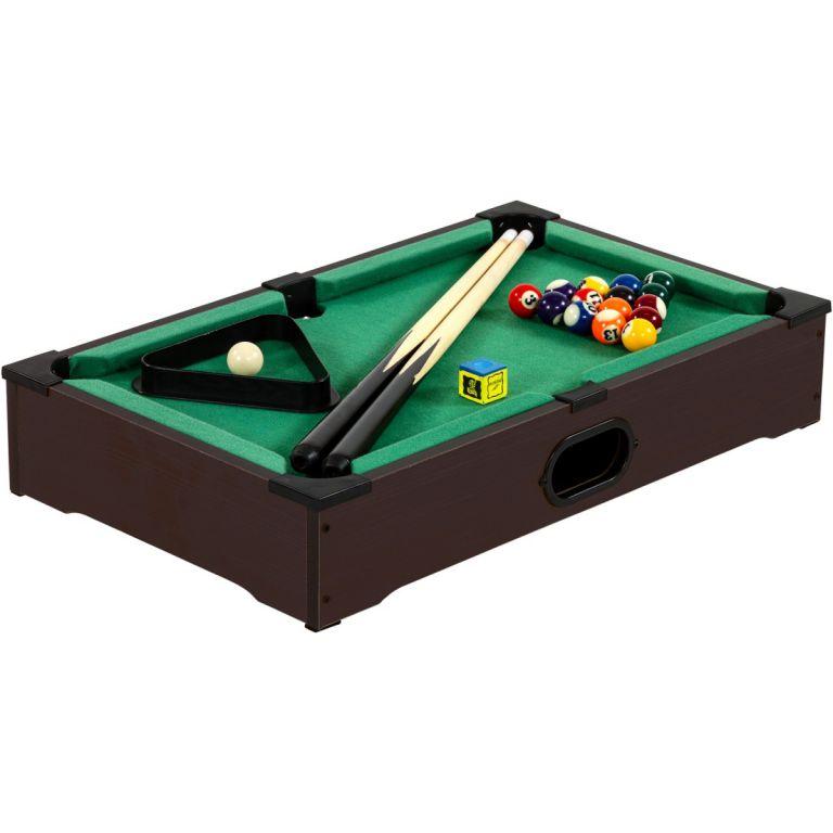 Tuin 40541 Mini kulečník pool s příslušenstvím 51 x 31 x 10 cm - tmavý