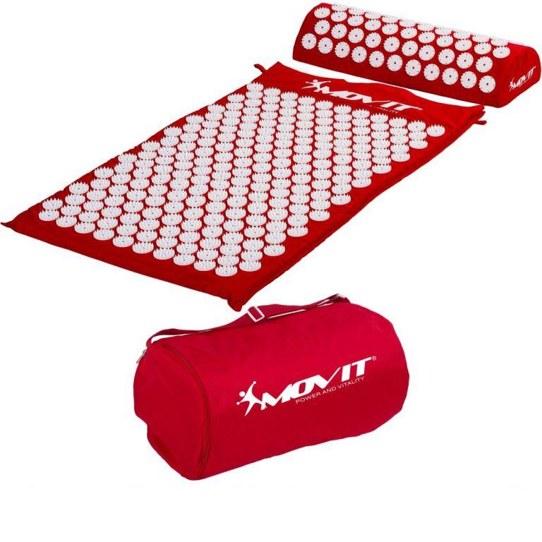 MOVIT 40593 Akupresurní podložka s polštářem 75 x 44 cm - červená