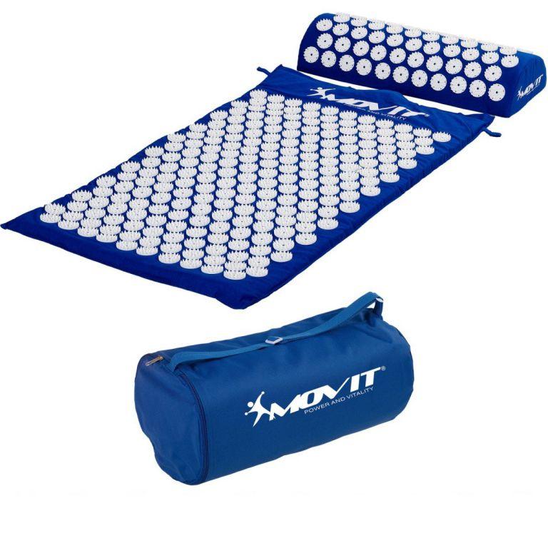 MOVIT 40598 Akupresurní podložka s polštářem 75 x 44 cm - modrá