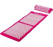 Akupresurní podložka s polštářem MOVIT 130 x 50 cm - růžová