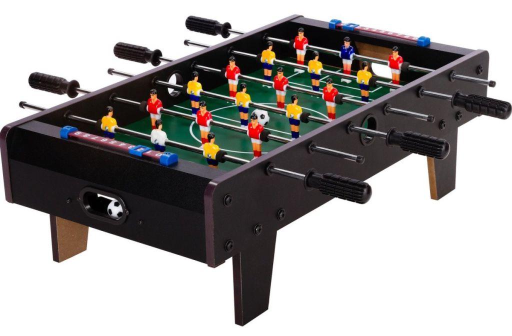 Tuin 43251 Mini stolní fotbal fotbálek s nožičkami 70 x 37 x 25 cm - černý