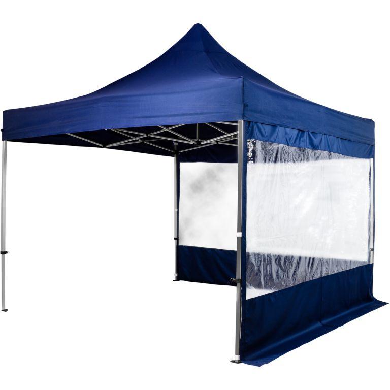 INSTENT 58595 Zahradní párty stan nůžkový 3 x 3 m + 2 boční stěny - modrý