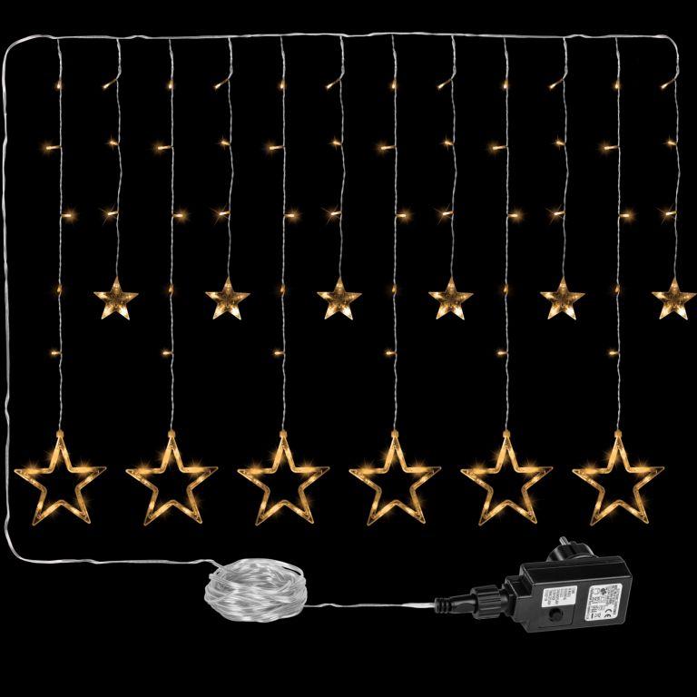 VOLTRONIC® 59573 Vánoční dekorace - svítící hvězdy - 150 LED teple bílá