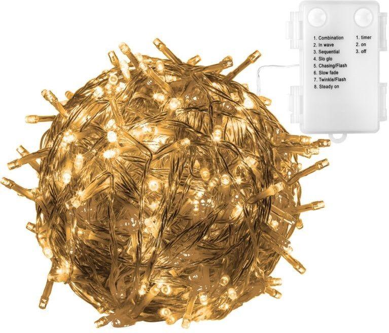 VOLTRONIC® 59579 Vánoční LED osvětlení 10 m - teple bílá 100 LED BATERIE