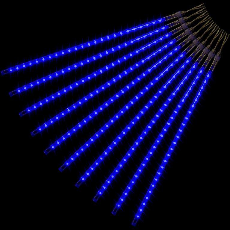 VOLTRONIC® 59611 Vánoční LED osvětlení - padající sníh - 480 LED modrá