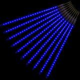 Vánoční LED osvětlení - padající sníh, 240 LED, modré