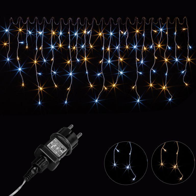 VOLTRONIC® 67398 Vánoční světelný déšť - 15 m, 600 LED, teple/studeně bílý