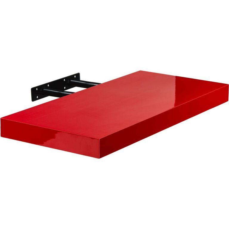 Stilista Volato nástěnná police, 100 cm, lesklá červená
