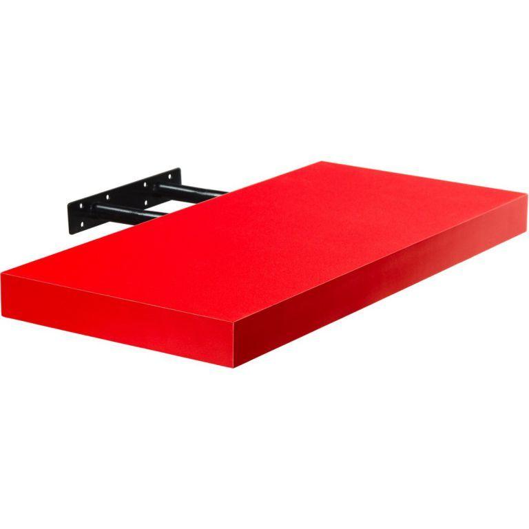 Stilista Volato nástěnná police, 30 cm, červená