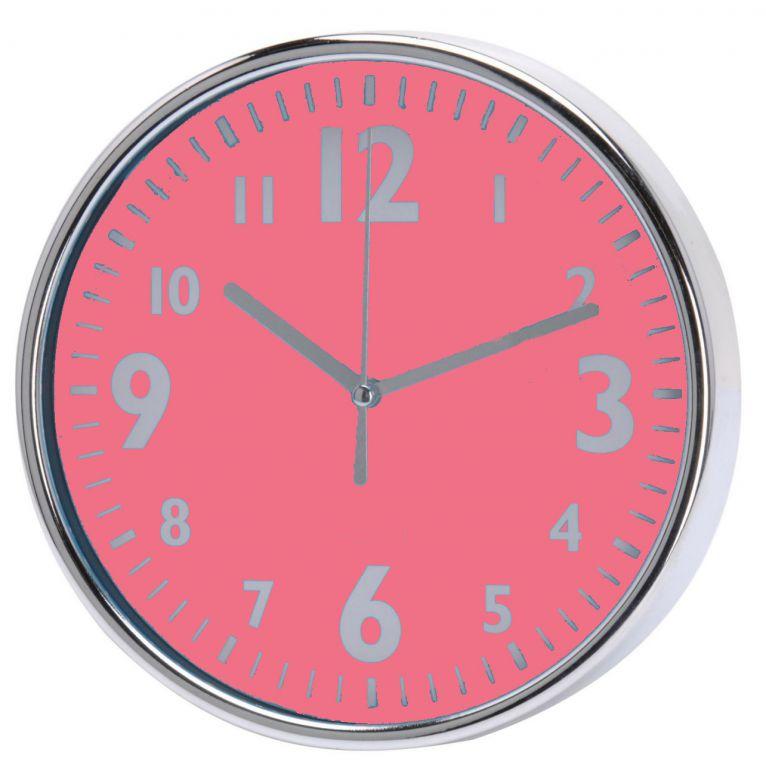 Koopman 35769 Nástěnné hodiny 20 x 3,6 cm - RŮŽOVÁ