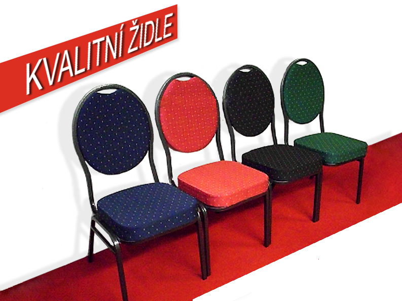 Kongresové stohovatelné židle - casino, herna