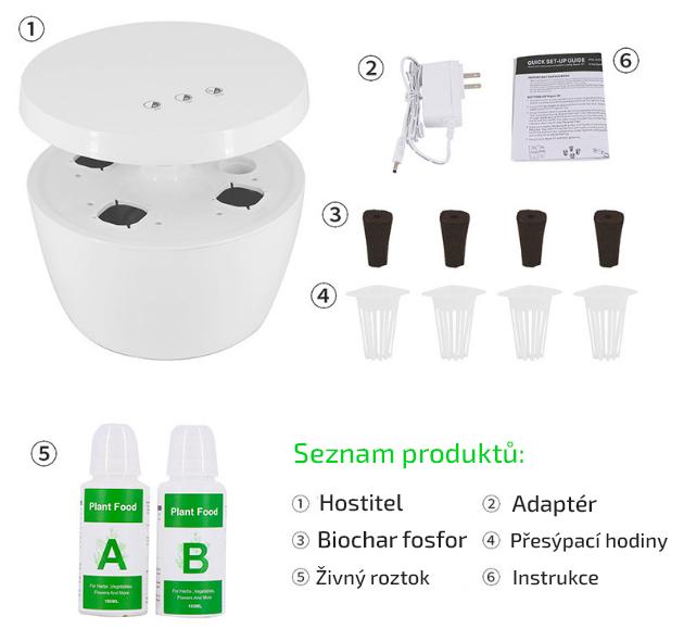 Hydroponie - domácí zahrádka LED