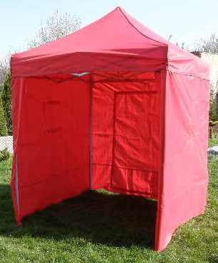 Tradgard CLASSIC 40967 Zahradní párty stan nůžkový + boční stěny - 2 x 2 m červený
