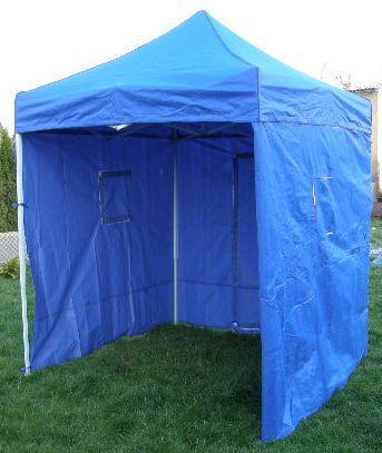 Tradgard CLASSIC 40968 Zahradní párty stan nůžkový + boční stěny - 2 x 2 m modrý