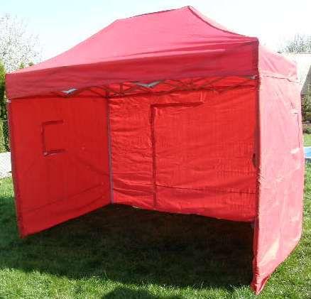 Tradgard CLASSIC 40971 Zahradní párty stan nůžkový + boční stěny - 3 x 2 m červený