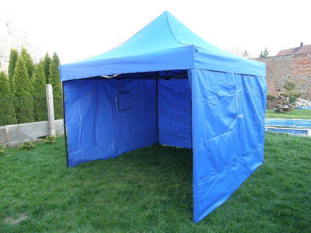 Tradgard DELUXE 41052 Zahradní párty stan nůžkový + boční stěny - 3 x 3 m modrá