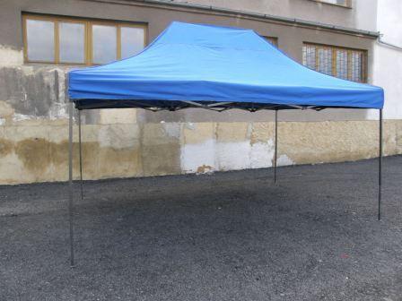 Zahradní párty stan DELUXE nůžkový - 3 x 4,5 m modrá