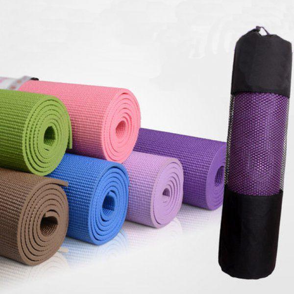 Podložka na jógu s taškou - černá