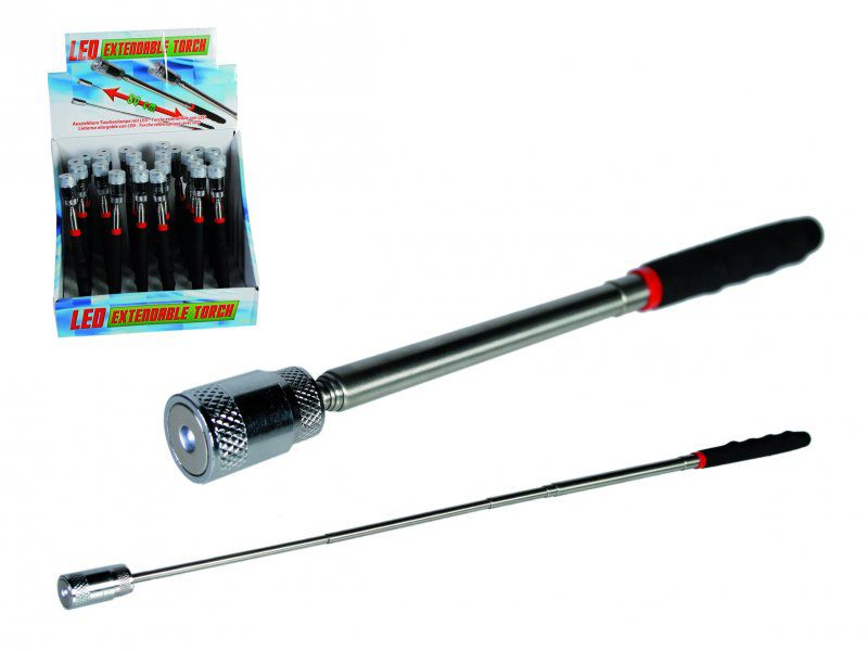 Teleskopická svítící tyč s magnetem
